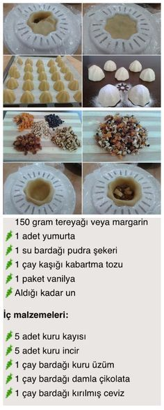 Atom kurabiye - Just Pin Cookie Recipes, Dessert Recipes, Delicious Desserts, Yummy Food, Arabic Food, Turkish Recipes, Food Design, Sweet Recipes, Food And Drink