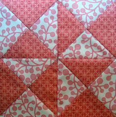 """I found the pattern for this 6"""" Envelope Quilt block in 5,500 Quilt Block Designs  by Maggie Malone.   In these diary entr..."""