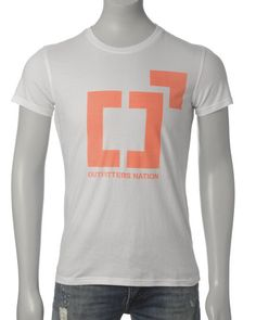 Outfitters Nation T-skjorte (White/Orange) - Smartguy.no - $60nok