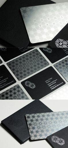 Creative Etched Metal And Paper Laminated Business Card For A Financial Advisor