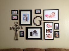 Amazing-wall-picture-collage-ideas-with-metal-ornament-and-black-picture-frames-ideas