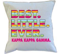 Kappa Kappa Gamma Best Little Ever Pillow by GreekGraffitiDorm on Etsy