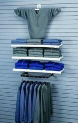 slatwall and adjustable shelves/fixtures would be great to organize the work room!