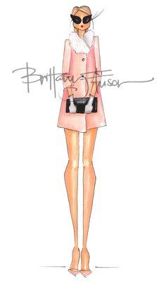 Brittany Fuson fashion sketch