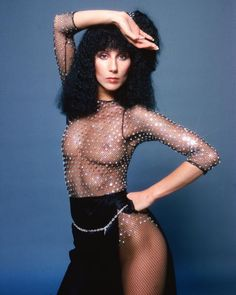 """Cher and Bob Mackie Reunite: A Look Back at Their Sparkly Relationship: """"Nipples are the sequins of nature.""""--something Bob Mackie may have said once."""