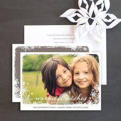 Snowflake elegance Christmas card by www.elli.com $1.49