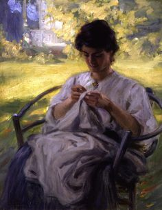 Painting: Otto Stark A Summer Morning 1909 American Impressionism, Impressionist, Contemporary Abstract Art, Modern Art, Oil On Canvas, Canvas Prints, Summer Painting, Sewing Art, Portraits