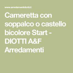 Cameretta con soppalco o castello bicolore Start - DIOTTI A&F Arredamenti