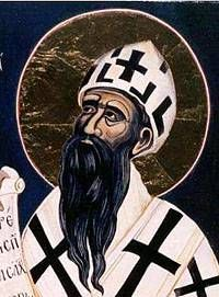 Cyril, Patriarch of Alexandria, responsible for inciting a churchman called Peter and his Christian mob to murder the Philosopher Hypatia