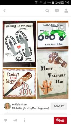 Fathers Day Gift Diy Childs Handprint Tree Printable