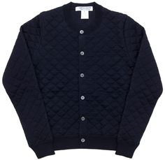 CDG quilted wool cardigan