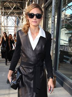 It Doesn't Get Any Chicer Than Olivia Palermo's Leather Wrap Dress