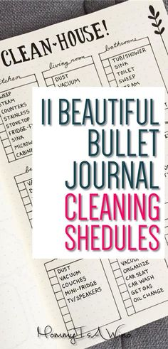 11 Beautiful Bullet Journal Cleaning Schedules - Bullet Journal Spread Ideas for Cleaning Schedules