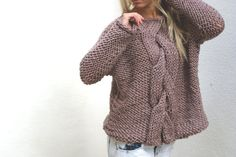 Chunky Massive Cable Knit