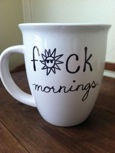 FCK mornings Coffee Mug 14oz by ChantillyStay on Etsy, $13.00