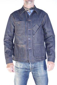 Tellason Coverall Jacket. 12.5 oz blue line selvage. #dreamindenim
