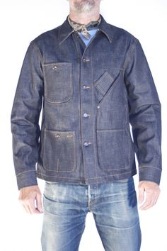 Tellason Coverall Jacket. 12.5 oz blue line selvage. #dreamindenim