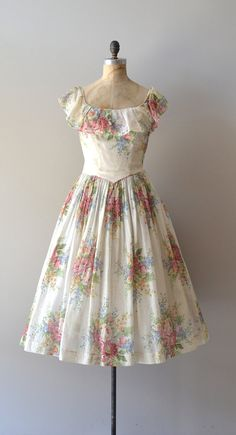 vintage 1940s dress / floral 40s dress / Meadow's by DearGolden, $224.00