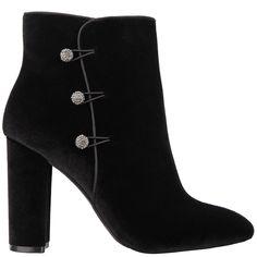 INAMAE – Nina Shoes Nina Shoes, Toe Shape, Block Heels, Almond, Velvet, Skinny Jeans, Silhouette, Booty, Sweater