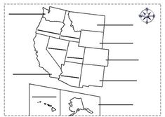 This is an outline of the Midwestern states for students to label and color. 5th Grade Worksheets, Social Studies Worksheets, Comprehension Exercises, Reading Comprehension, Geography For Kids, State Game, New England States, Educational Crafts