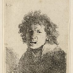 Rembrandt, zelfportret (B 13), 1630. Teylers Museum