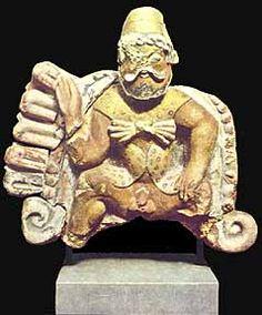 Etruscan satyr, 6th cent. BCE