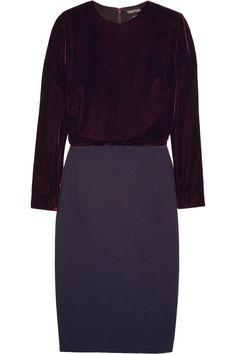 TOM FORD | Velvet and stretch-crepe dress | NET-A-PORTER.COM