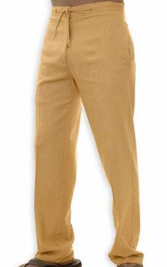 Tan Linen Pants For Men
