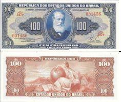 BRASIL - CEDULA DE 100 CRUZEIROS D PEDRO II CAT 030 SÉRIE 347 VALOR DE CATALOGO R$ 240 REAIS - PEÇA