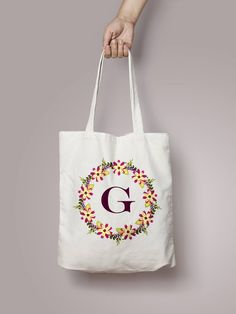Monogrammed Tote Bag Bridesmaid Gift Personalized Etsy Custom Bags Monogram