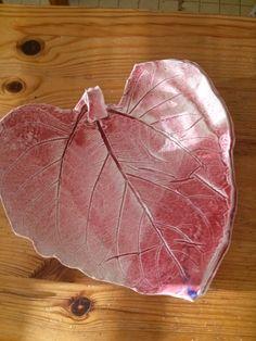 Pottery Sunflower  Leaf Plate for spoon by NancyBloklandPottery, $20.00