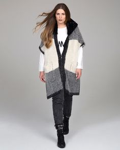 """""""Urban Chic"""" trend • mat. F/W 2016-17 collection Mat Fashion, Fall Winter, Autumn, Urban Chic, Vest, Elegant, Sweaters, Collection, Classy"""