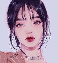 Image in Character illustration collection by Jung Kyung-Soon Cartoon Kunst, Cartoon Art, Aesthetic Art, Aesthetic Anime, Pretty Art, Cute Art, Digital Art Girl, Wow Art, Beautiful Anime Girl