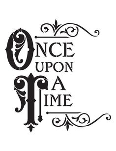 """Stencils of Signs, Words & Phrases Reusable Stencils, """"Once Upon A Tile"""" Signage, Fairytale Signs. Letter Stencils, Stencil Templates, Stencil Art, Stencil Designs, Stencil Patterns Letters, Fairy Stencil, Alphabet Templates, Disney Stencils, Cricut Stencils"""
