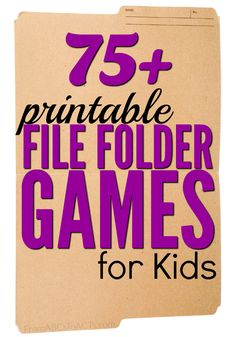 Printable File Folder Games for Kids File folder games are so easy to put together and are a great way for your child to practice the concepts that they're learning! File Folder Activities, File Folder Games, File Folders, Folder Games For Toddlers, Work Folders, Toddler Activities, Preschool Activities, Brain Activities, Preschool Printables