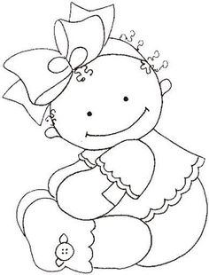 Baby girl 2-Sweet Illustration...cute for little canvas to hang on the wall