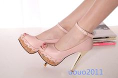 Us Size 4-12 Grace Womens Open Toe Block High Heel Pumps Party Dating Shoes