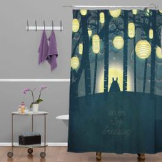 Totoro forrest shower curtain