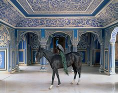 """Sikander's Entrance"" Chandra Mahal, Jaipur City Palace, Jaipur. From the book India Song by Karen Knorr."