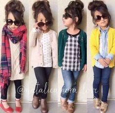 43 Cute Adorable Fall Outfits for Kids Ideas - Fashion - Kids Style Little Girl Outfits, Cute Outfits For Kids, Little Girl Fashion, Cute Kids, Back To School Outfits For Kids, Toddler Girl Style, Toddler Girl Outfits, Toddler Fashion, Kids Fashion