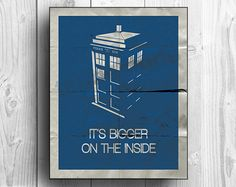 New TARDIS design!  I LOVE this one! It turned out so well.    Doctor Who Tardis print  It's bigger on the inside by tkbdesigns, $19.00