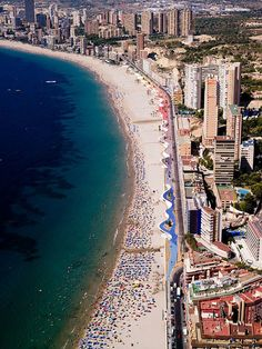 Benidorm, Alicante | Spain. Actually, This is more like Miami Beach. Denia, Valencia, Teulada, Moraira & are more like the real Spain.