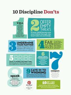 Discipline don'ts