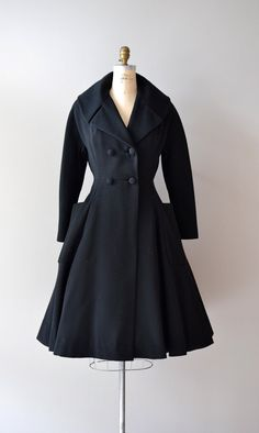 Stunning black princess coat.~~So cute!!