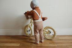 knit pants - pumpkin stripe
