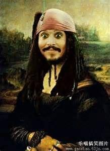 MONA LISA Jack Sparrow Johnny Depp Pirates of the Caribbean painting art John Depp, Mona Lisa Parody, The Meta Picture, Captain Jack, Have A Laugh, Pirates Of The Caribbean, Laughing So Hard, Funny Cute, I Laughed