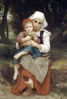 Breton Brother and Sister, 1871 William Bouguereau (French, 1825–1905) Oil on canvas; 50 7/8 x 35 1/8 in. (129.2 x 89.2 cm)