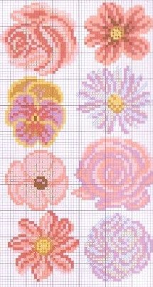cross stitch chart- Oooh, I love these!