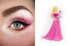 Aurora (Sleeping Beauty) Inspired Eye Make Up