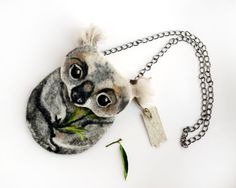 Koala bear coin purse,Shoulder Bag,Ready to Ship with bag frame metal closure Hand made gift for her by MSbluesky on Etsy